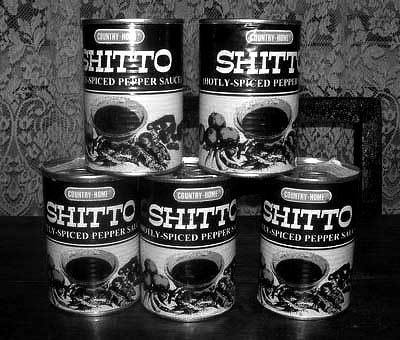'Yellow tin' can also mean Shittos, of course.